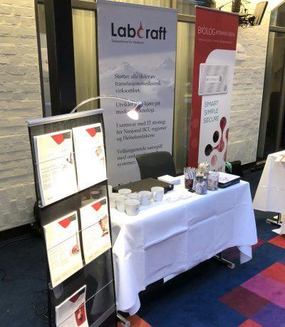 LabCraft sin stand på blodbank-konferanse