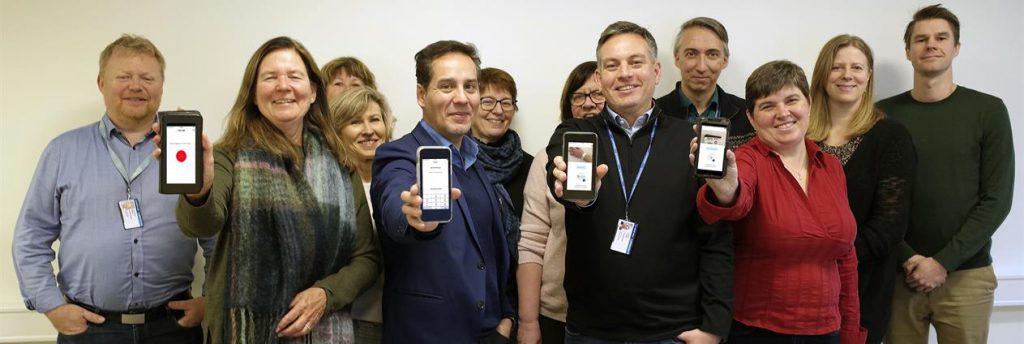 Styringsgruppen er fornøyd med den nye mobilappen.